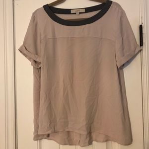 Ann Taylor Loft Blush Colored Blouse Medium
